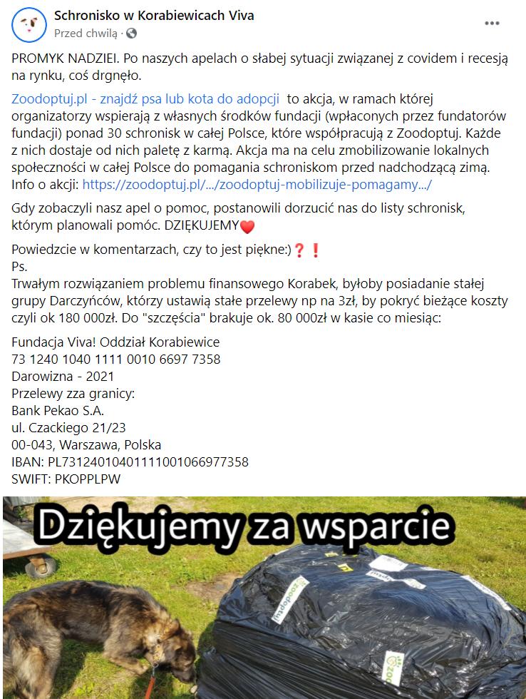 Schronisko w Korabiewicach